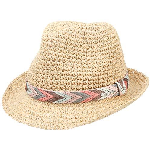 CHILLOUTS Medellin Hat in Natur XS | Damen Hut | Fedora Trilby Knautsch Strohhut