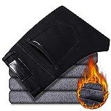 Vaqueros para Jeans Pantalones Pantalones Vaqueros Azules Negros De Invierno para Hombre, Nuevos Pantalones...