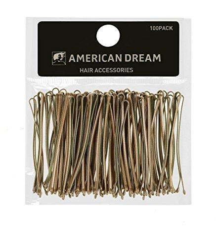 AMERICAN DREAM Pack of 100 x Haarnadeln - blond - glatt - 2 inch / 5 cm Länge, 1er Pack (1 x 68 g)