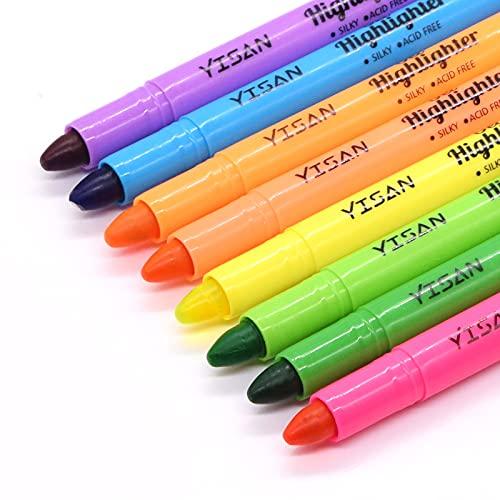 YISAN Marcadores Fluorescentes, Bible Highlihters, Subrayadores, Rotuladores Resaltadores Secos, 8 Colores Surtidos, 20222