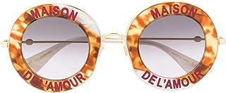 Gucci Luxury Fashion Femme GG0113S010 Marron Métal Lunettes De Soleil | Saison Permanent