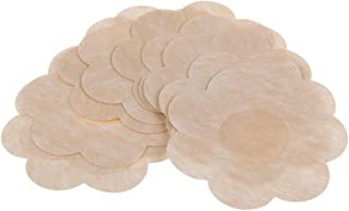 Cicilli Women's Flower Shaped Invisible Nipple Cover - Five Pairs, Beige, 7 cm  2.75 in