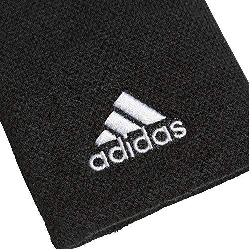 adidas Men's Tennis Large Wristband, Black/White, OSFM