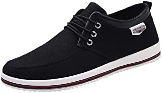 HULKAY Men's New Shoes Casual Large Size Handmade Loafers Shoes for Men