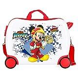 Disney Mickey Joy Maleta Infantil Multicolor 50x38x20 cms Rígida ABS Cierre combinación 34L 2,3Kgs 4 Ruedas Equipaje de Mano