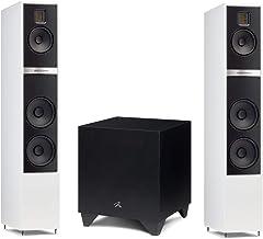 "Martin Logan Motion 40i Floorstanding Speakers Matte White Pair and Dynamo 400 Powered 8"" Subwoofer Bundle"
