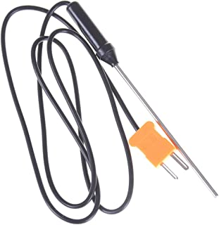 FADACAI 1 capteur thermocouple de type K en acier inoxydable pour thermomètre numérique.