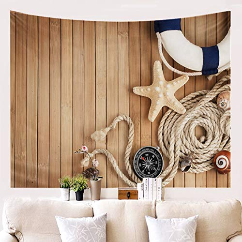 Ubestlove Abstract Line Tapestry Plank Starfish Room Tapestry Aesthetic Brown Tapestry 150X100CM
