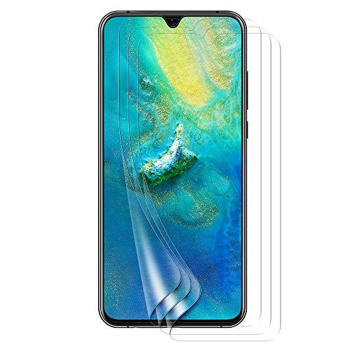 Bigmeda Schutzfolie für Huawei Mate 20, Blasenfrei, Anti-Kratzen, Anti-Öl, HD Klar Flexible Bildschirmschutzfolie für Huawei Mate 20 Folie [3 Stück]