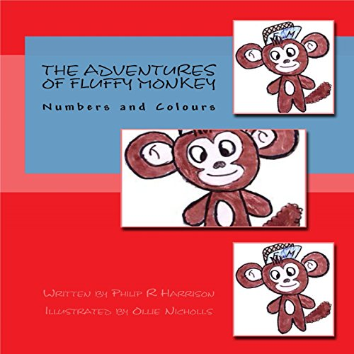 The Adventures of Fluffy Monkey: Numbers and Colors audiobook cover art