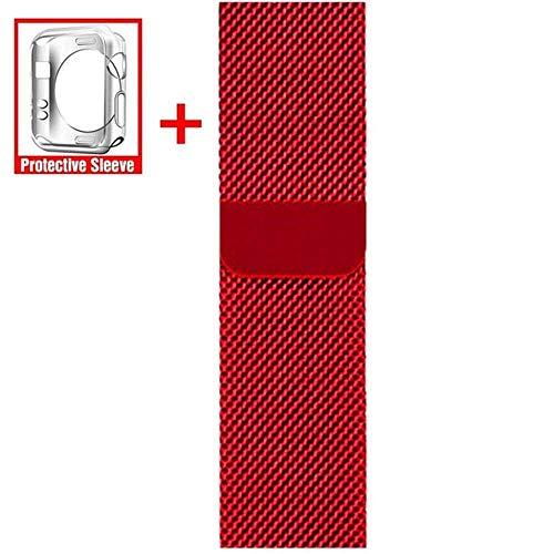 LANGY Adatto per Cinturino per Bracciale in Acciaio Inossidabile Serie iwatch 5/4/3/2/1 44 / 40Mm 38 / 42Mm Accessori Moda per Cinturino Milano