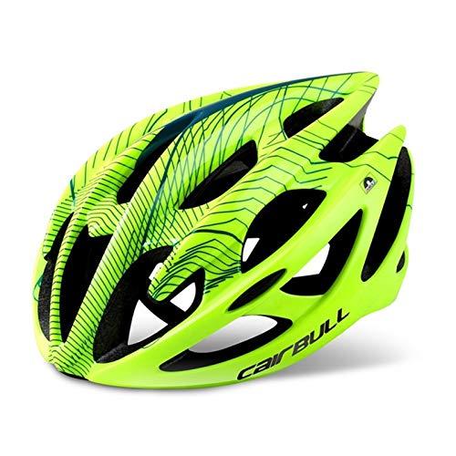 MissLi Bicicleta De Carretera Ultraligera, Patinaje sobre Ruedas, Casco De Una Pieza para Hombre Y Mujer, Tamaño para Niños Adultos (Color : Green, Size : Large)