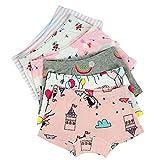 Kidear Série d'Enfants sous-Vêtement de Bébé Slip en Coton Colutte pour Petite Filles (Lot de 6) (Style2, 7-8 Ans)