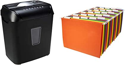 $72 » Amazon Basics 12-Sheet Cross-Cut Paper and Credit Card Home Office Shredder & Hanging Organizer File Folders - Letter Size...