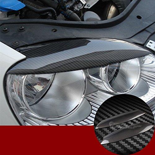 wroadavee Kohlefaser Car Styling Scheinwerferblenden Scheinwerfer Wimpern Abdeckung
