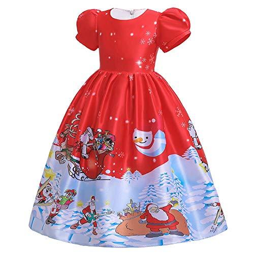 IBTOM CASTLE Disfraz de Pap Noel para nios y nias, Vestido de Princesa, Vestido de Tul, Vestido de Ballet, Boda, cumpleaos, Carnaval Sd050-rojo 40