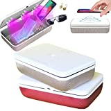 ULLIVE UV Phone Sanitizer Sterilizer Cleaners Soap Box with 15W Wireless Charging and Aromatherapy or Jewelry Sanitizer Sterilizer Cleaners Box for Glasses, Watches, Nail & Beauty Tools (Gold)