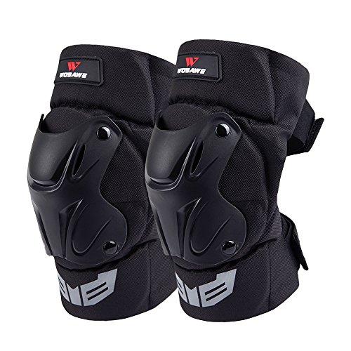WOSAWE Protektoren Sets Knieschützer Ellbogenschützer Motorrad Handgelenkschutz Sport Roller Ski Protector Kit für Skateboard Fahrrad Roller (Knieschoner)