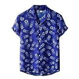 Alphahope Camicie a maniche corte abbottonate con stampa hawaiana da uomo divertenti camicia donna manica corta bluse donna elegante manica corta maglia uomo manica corta fantasia