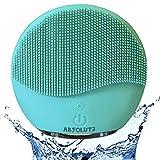 Spazzola Pulizia Viso Silicone ABSOLUTE. Detergente viso, Double Face, Massaggiatore Viso Elettrico Esfoliante, Impermeabile IPX7, Ricaricabile con USB, Scrub del Viso Anti Età