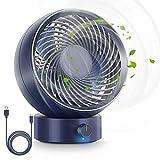 Ventilatore, Ventilatore da Tavolo USB Ventilatore Silenzioso 180 Tipi di velocità del Vento, del...