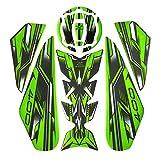 bazutiwns 1 Establecer la Almohadilla del Tanque de Combustible de la Motocicleta de calcomanías Antideslizantes Pegatina para Kawasaki Z400 HSLL (Color : Army Green)