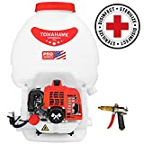 Tomahawk 5 Gallon Gas Power Backpack Sprayer 435 Pressure for Insecticide Fertilizer Bugs Weeds Mosquitoes and Ticks with Foundation Attachment