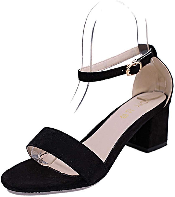 IWlxz Women's Block Heel Sandals PU(Polyurethane) Spring Summer Club shoes Sandals Chunky Heel Open Toe Rhinestone Buckle Black Pink Party & Evening Party & Evening