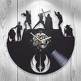 Kovides Star Wars, Vinyl Clock, Wall Decor, Modern Art, Darth Vader, Yoda, Luke Skywalker, Chewbacca, Gift Ideas For Fans, Wall Art, Home Decor, Handmade Gift, Vintage Vinyl Record