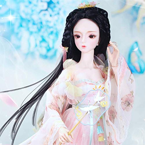 YNSW Muñeca BJD, Hada Antigua En Un Vestido De Princesa Rosa 1/3 BJD SD Doll Girl 24
