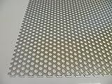 B&T Metall - Lamiera forata in alluminio, spessore: 1 mm, diametro fori: 6 mm, allineamento fori sfalsato, RV 6-9, misure personalizzabili