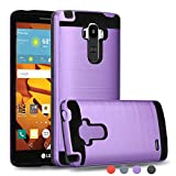 Ayoo Compatible with LG G Stylo Case,LG G4 Stylus Case,LG LS770 Case,LG G Stylo H631 / LG MS631 Case,Brushed Texture Full-Body Shockproof Protective Cover Design Phone Case for LG LS770-ZS Purple