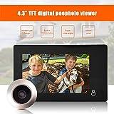 ASHATA Mirilla Digital Visor, Cámara con 4.3 Pulgadas HD TFT LCD Pantalla Coloreada, Cámara de Seguridad para el Hogar...