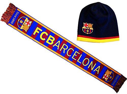 Fc Barcelone Coffret Cadeau Echarpe + Bonnet Barça - Collect