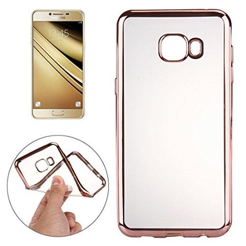 Basic Phone Cases Phone Case for Samsung Galaxy A9 / A900 Electroplating Transparent Soft TPU Protective Cover Case Shock Absorption Cover Ultra-Thin Protection (Color : Rose Gold)