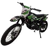 X-PRO Hawk 150cc Adults Dirt Bike Pit Bike Youth Dirt Pit Bike Dirt Bike Dirt Pitbike,Big 19'/16' Wheels -Green