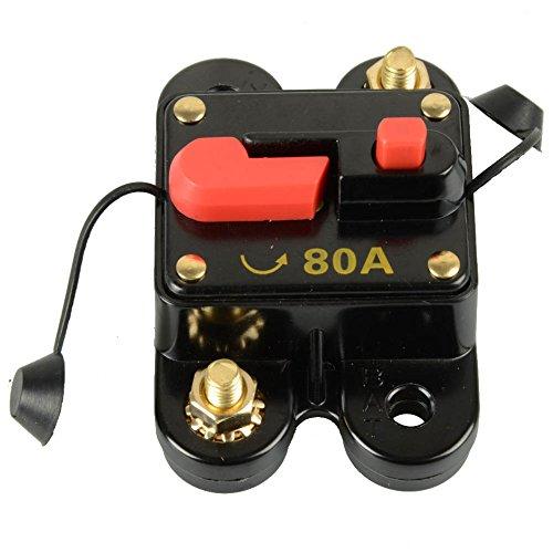 Asdomo Circuit Breaker, Circuit Breaker Switches | Circuit Breaker Fuse Trolling with Manual Reset | 12V-24V (80A)