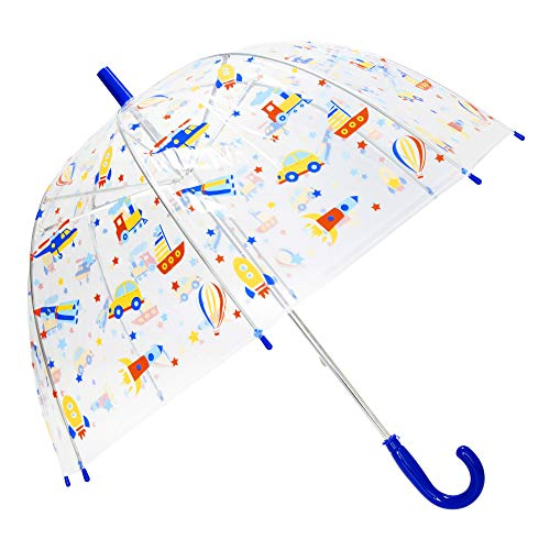 X-brella Kinder Auto & Flugzeug Regenschirm (Einheitsgröße) (Blau)