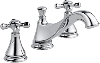 Delta KLDCA-WS-3595H295-CH Cassidy Lavatory Faucet Kit with Metal Cross Handles, Chrome Chrome
