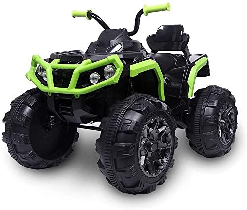 Mondial Toys Moto ELETTRICA per Bambini Super Quad Lander 12V ATV con Ammortizzatori Full Optional...