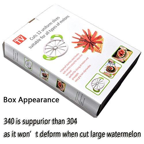 """Watermelon Slicer 15.7"""" Large Stainless Steel Fruit Cantaloup Melon Slicer Cutter Peeler Corer Server for Home"""