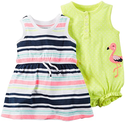 Carter's Baby Girls' 2 Pack Rompers 121g481