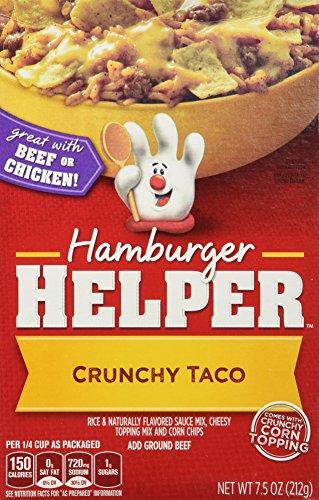 Betty Crocker CRUNCHY TACO Hamburger Helper 7.5oz (2 Pack)