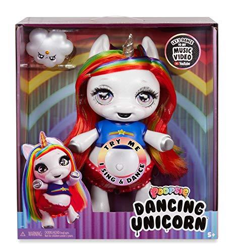 Poopsie Dancing Unicorn Rainbow Brightstar - Bambola Unicornio che Canta e Balla - Giocattolo a Batteria per Bambini