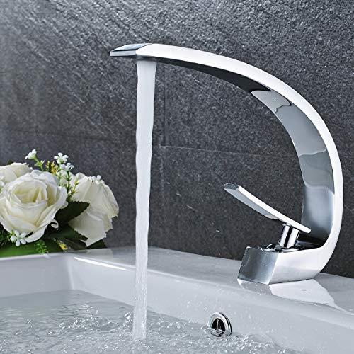 SUGU Badarmaturen Waschtisch Ausziehbar Waschbecken Armatur Chrom Bad Armatur Waschbecken Badezimmer Amaturen Waschbecken Einhebelmischer Waschtisch (Chrom)