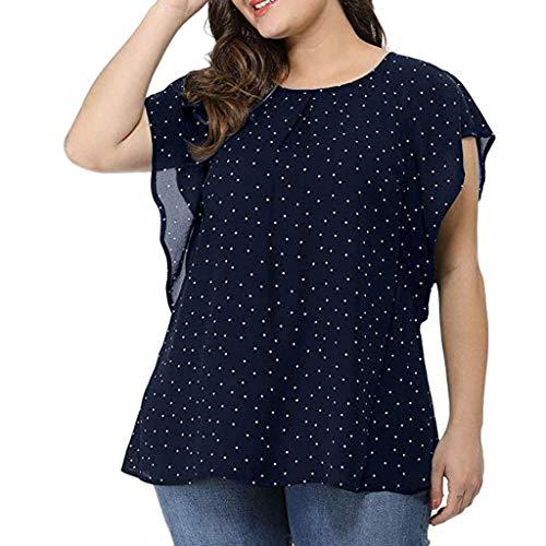 TOWAKM Damen Fledermaus Batwing Chiffonbluse Tunika T-Shirt Top Bluse Kurzarm...