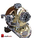 "RETAILHOOKS 18"" Vintage Marine U.S. Navy Mark V Diver Helmet Maritime Nautical Antique Scuba Deep Diving Divers Helmet"