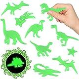 German-Trendseller® - 24 x Magische Dinosaurier ★ Nachtleuchtend ★ ┃ ★ NEU ★ ┃ ++ Kinderzimmer ++ ┃ Mitgebsel ┃ Kindergeburtstag ┃ Dinos ┃ 1 Pack / 24 Dinosaurier