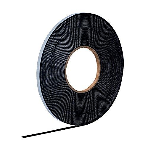 EPDM Zellkautschuk 10mmx1mm einseitig selbstklebend schwarz 10m Rolle