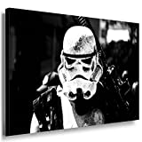 Star Wars Stormtrooper Leinwandbild LaraArt Bilder Schwarz-Weiss Wandbild 60 x 40 cm